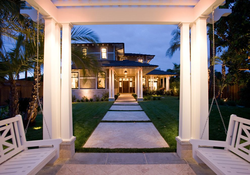 Turf Masters for a Traditional Landscape with a Outdoor Lighting and Bayside Traditional by Dorothy Howard Aia, Architect