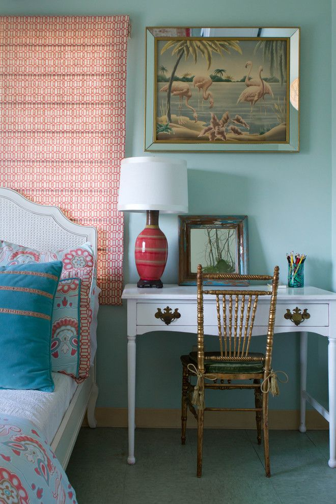 Turners Furniture for a Eclectic Bedroom with a Woven Cane and Charmean Neithart Interiors by Erika Bierman Photography