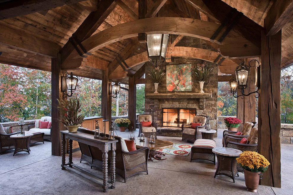Twinspires for a Rustic Patio with a Rustic and Western Ranch Style by Hunter Custom Homes Llc
