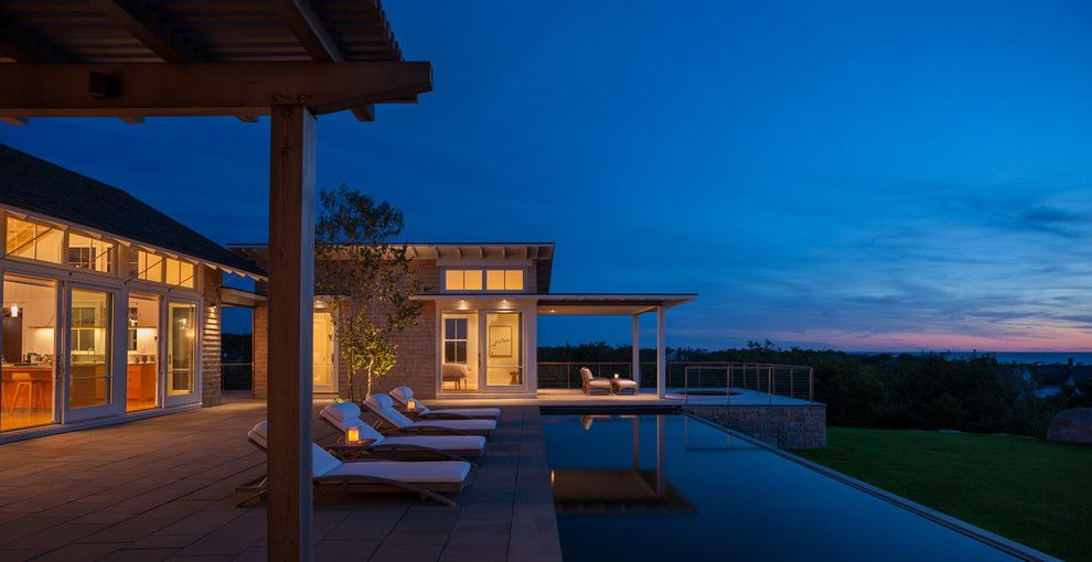 Twombly for a Beach Style Exterior with a Beach Style and Swede Hill by Estes/Twombly Architects, Inc.