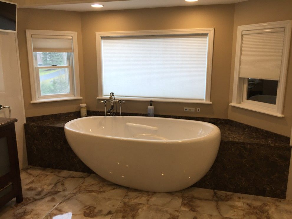 Ultratec for a Contemporary Bathroom with a Buschquartz and Albany, Ny Contemporary Bath by Innovations by Vp
