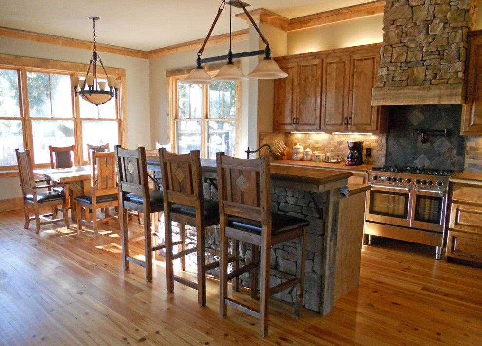 Unclaimed Furniture for a Eclectic Dining Room with a Custom Furniture and Rustic Kitchen by Woodland Creek Furniture