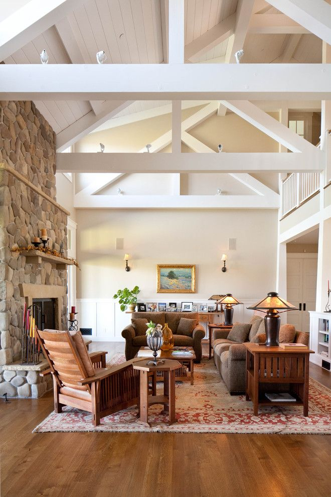 Unclaimed Furniture for a Farmhouse Living Room with a Sette and Modern Ranch Home by Tom Meaney Architect, Aia