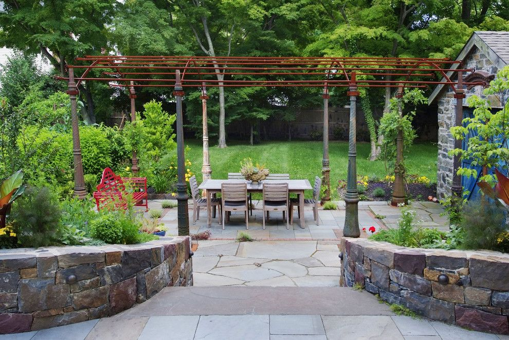 Unclaimed Furniture for a Traditional Patio with a Recycled and Greek Revival Recycle Princeton by Groundswell Design Group, Llc