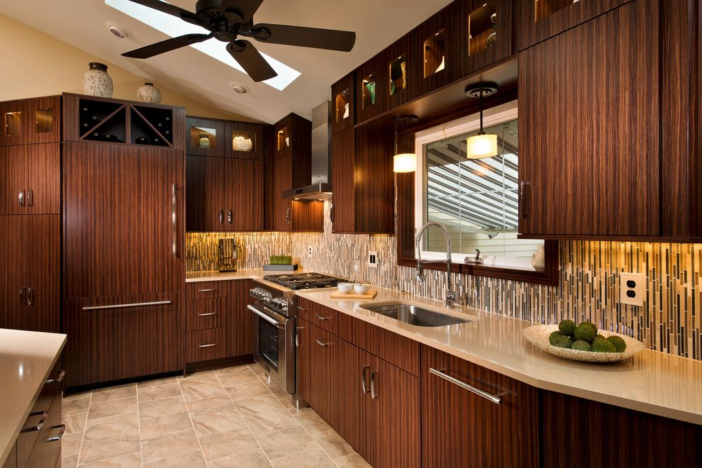 Unclogging a Sink for a Contemporary Kitchen with a Exotic Wood and Contemporary Designs by Kitchen and Bath World, Inc