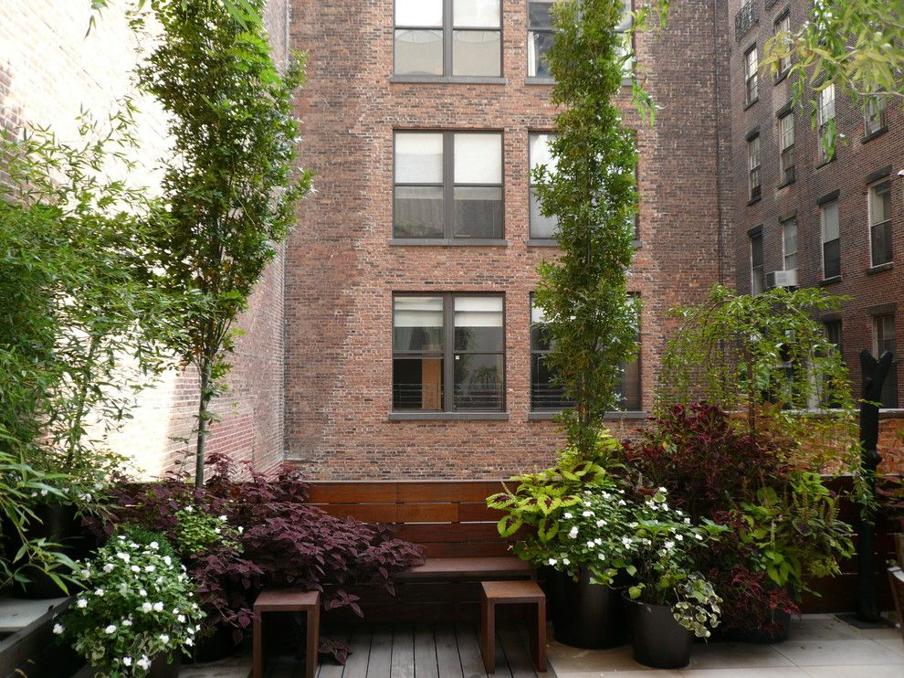 Uncommon goods.com for a Contemporary Patio with a Hardscape and Tribeca Terrace Garden New York, NY by the Artist Garden