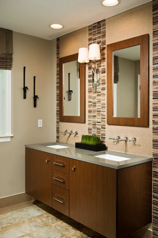 Undermain Theatre for a Contemporary Bathroom with a Double Sink Vanity and Beautiful Baths by Kitchen and Bath World, Inc