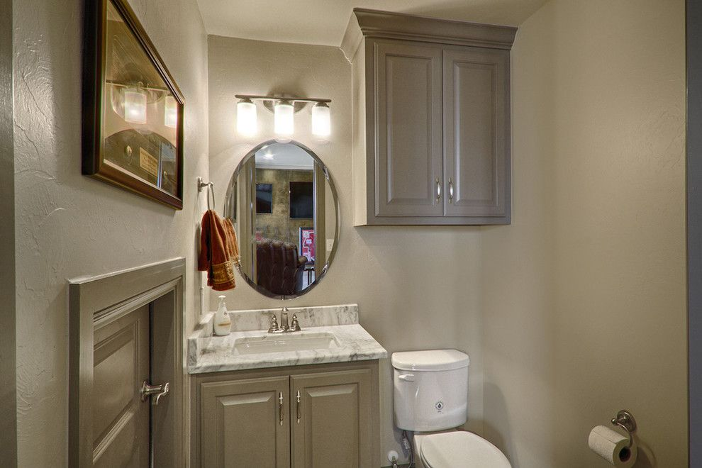 Undermain Theatre for a Modern Powder Room with a Marble Top and 3365 Nw 173rd by Handmade Homes