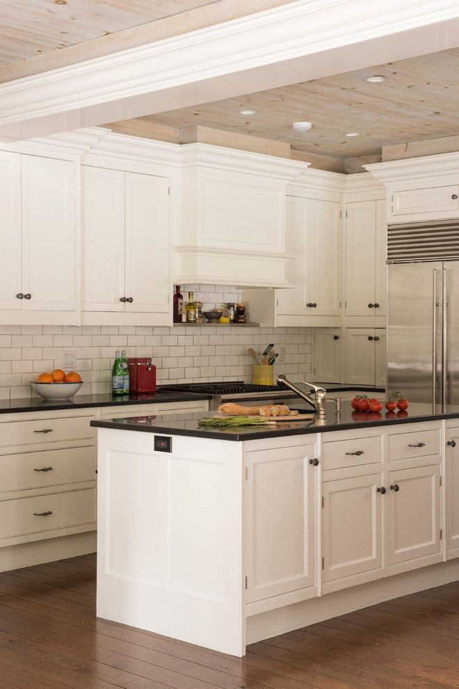 Undermain Theatre for a Traditional Kitchen with a Entry and Darien, Ct by Mehditash Design