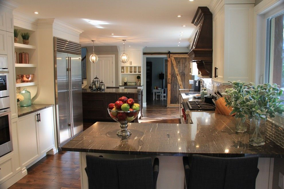 Undermain Theatre for a Transitional Kitchen with a Barn Style Door and Great Big Beaconsfield Kitchen by Wow Great Place