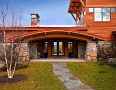 Union Grove Baptist Church for a Eclectic Entry with a Entry and Saranac Lake House by Phinney Design Group
