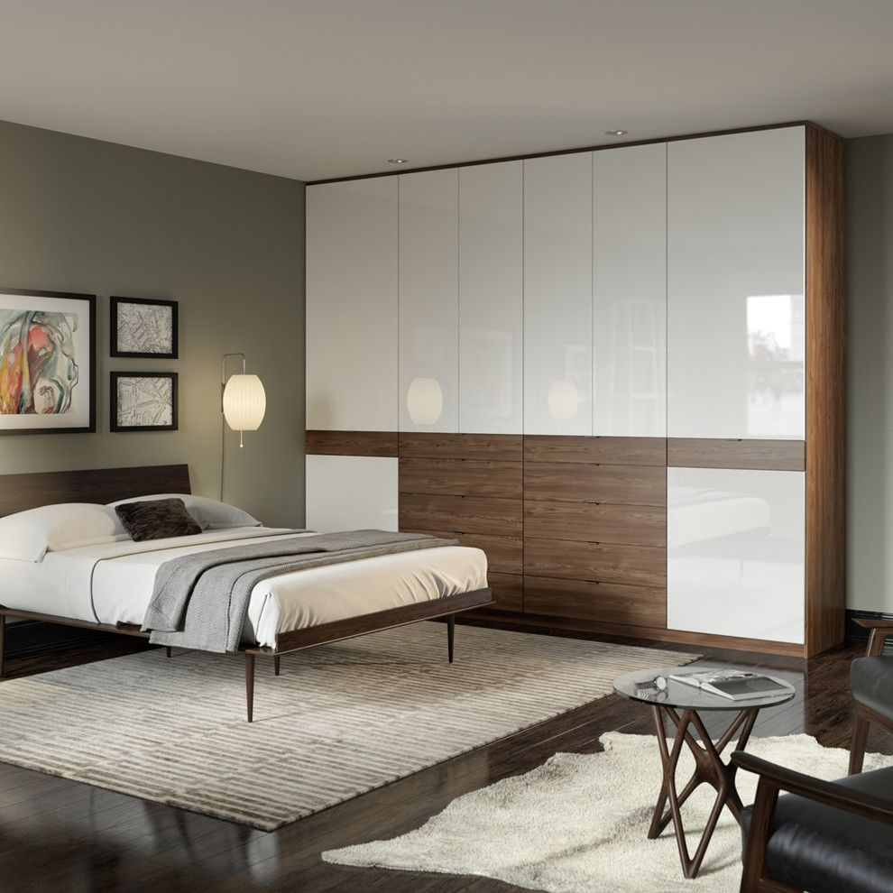 United Artist Farmingdale for a Contemporary Bedroom with a Cowhide Rug and Contemporary Bedroom by californiaclosets.com
