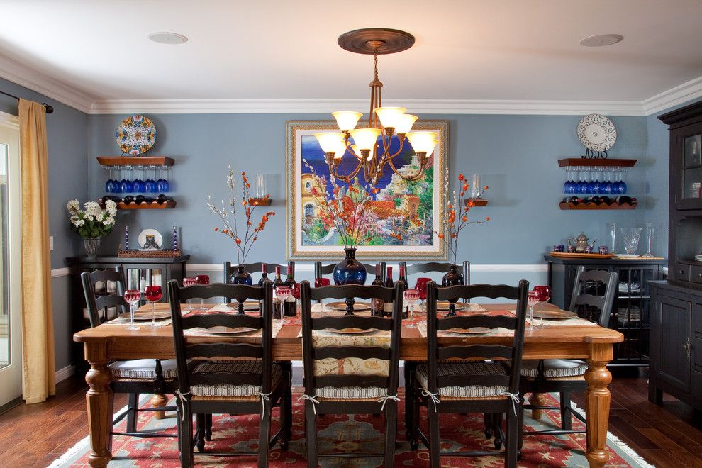 United Artist Farmingdale for a Rustic Dining Room with a Wood Dining Table and Whole House by Marrokal Design & Remodeling