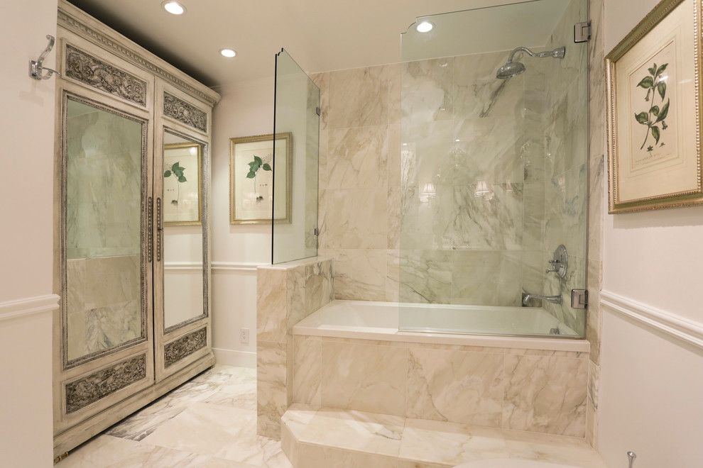 United Artist Farmingdale for a Traditional Bathroom with a Bathtub and High Rise Single Unit Remodel by Dovetail Builders Inc.