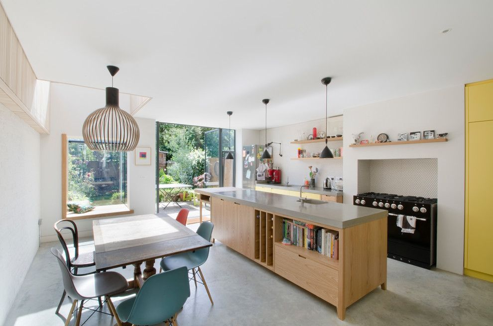 United Artist Laguna for a Contemporary Kitchen with a Edwardian House and House for Two Artists by Gort Scott