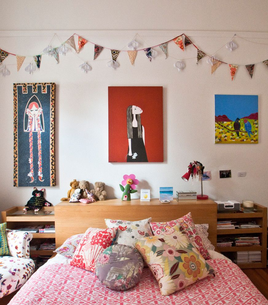 United Artist Laguna for a Eclectic Kids with a Pink Bedding and Cottesloe Hilltop Residence by Kim Pearson Pty Ltd
