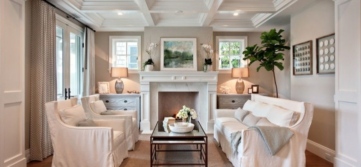 United Artists Farmingdale for a Beach Style Living Room with a Dresser and Bayshores Drive by Brandon Architects, Inc.