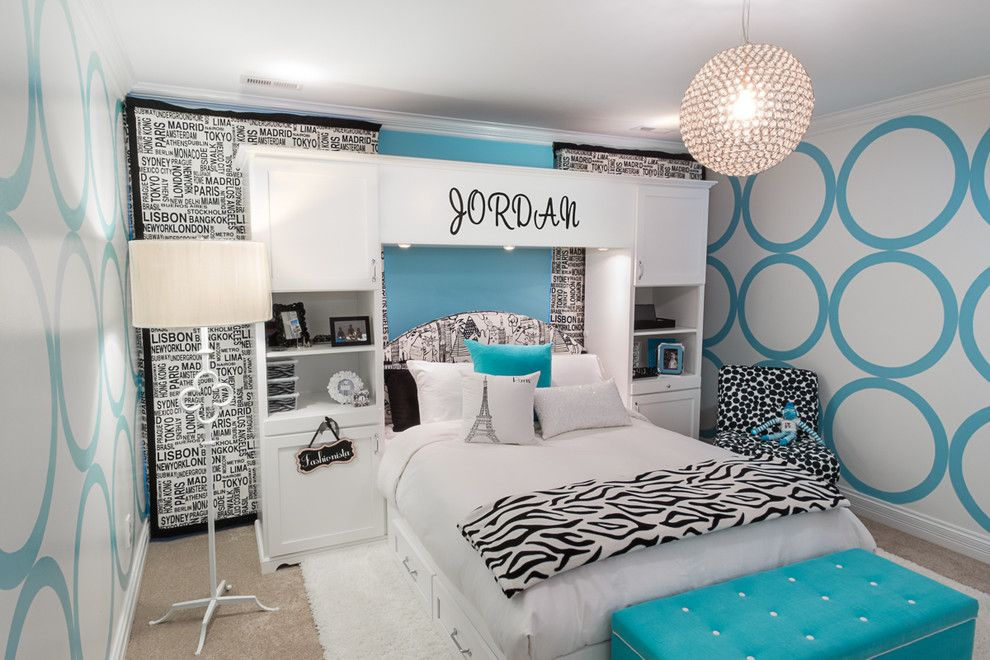 United Artists Farmingdale for a Contemporary Kids with a Blue Accent and for a 10 Year Old Girl Who Loves to Travel by Chatham Interiors, Inc.
