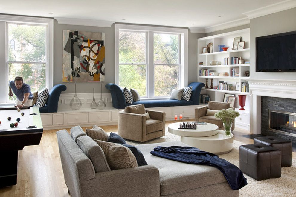 United Artists Farmingdale for a Contemporary Living Room with a Round Coffee Table and Living Room by Eleven Interiors