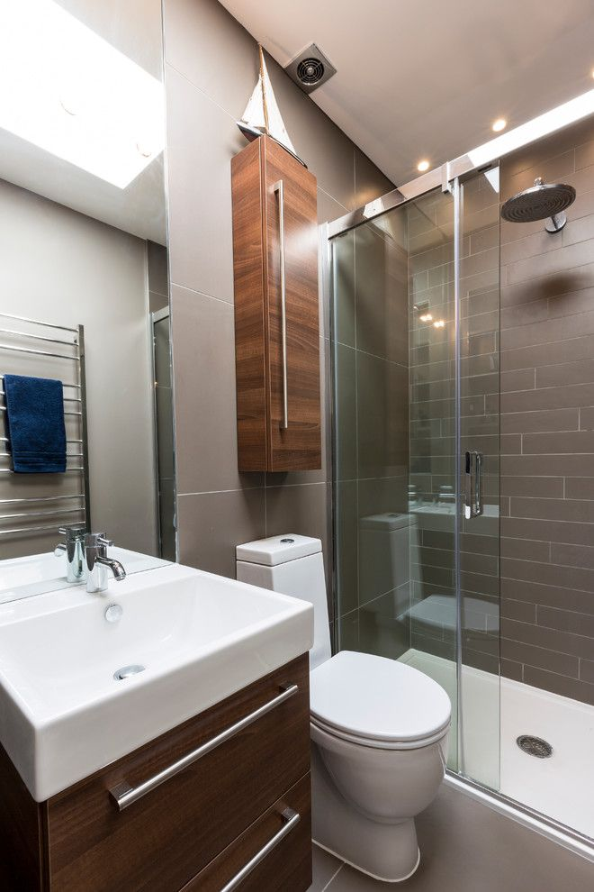 United Artists Farmingdale for a Eclectic Bathroom with a Small Bathroom and Kensington Town House by Luke Cartledge Photography