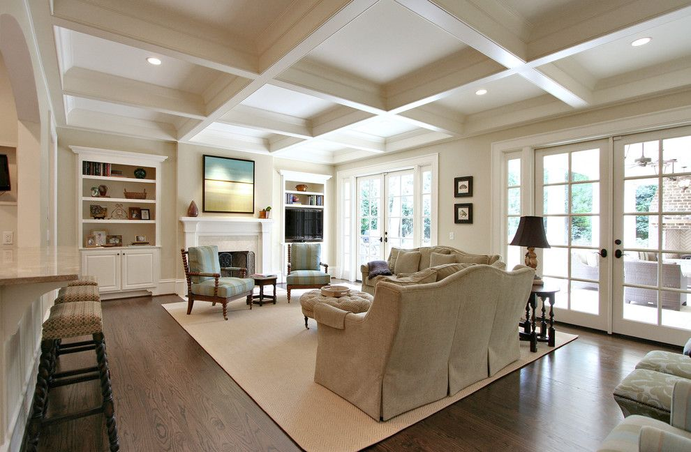 United Artists Farmingdale for a Traditional Family Room with a Breakfast Bar and Family Room by Dresser Homes