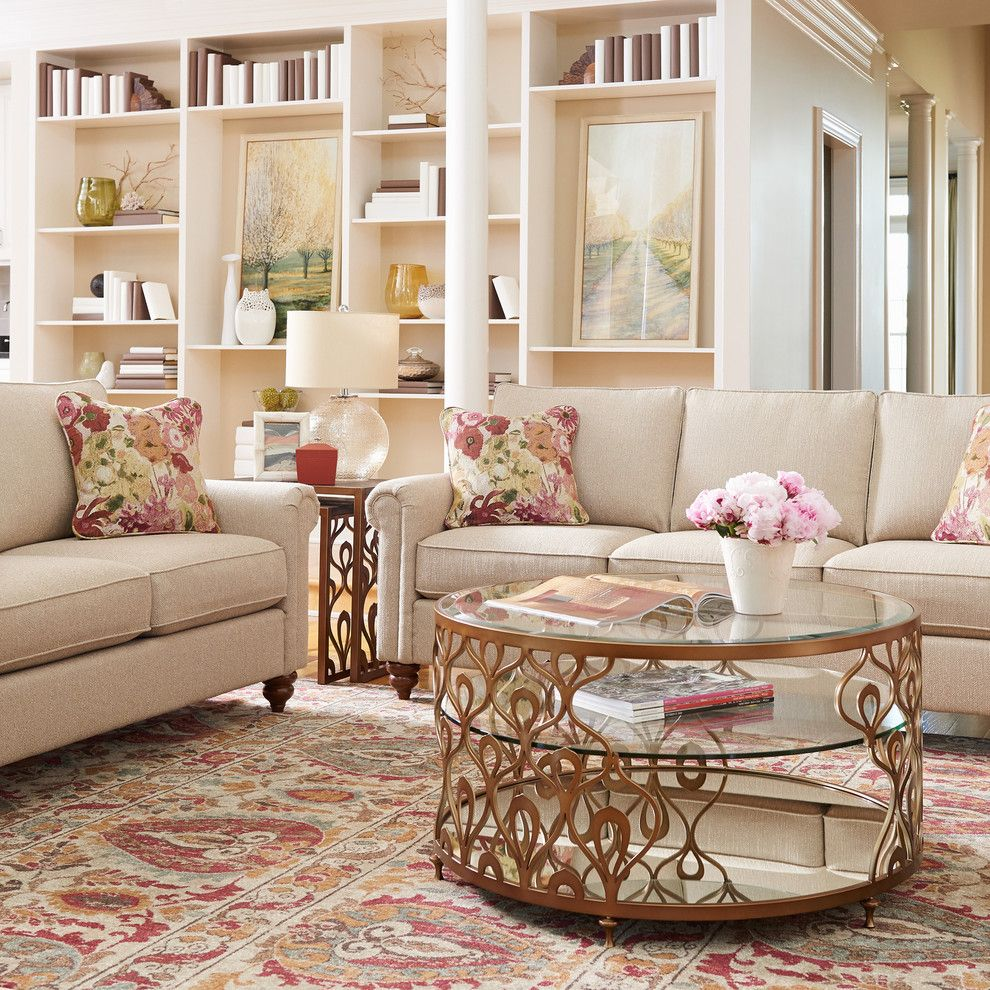 United Artists Farmingdale for a Traditional Living Room with a Patterned Rug and La Z Boy by La Z Boy