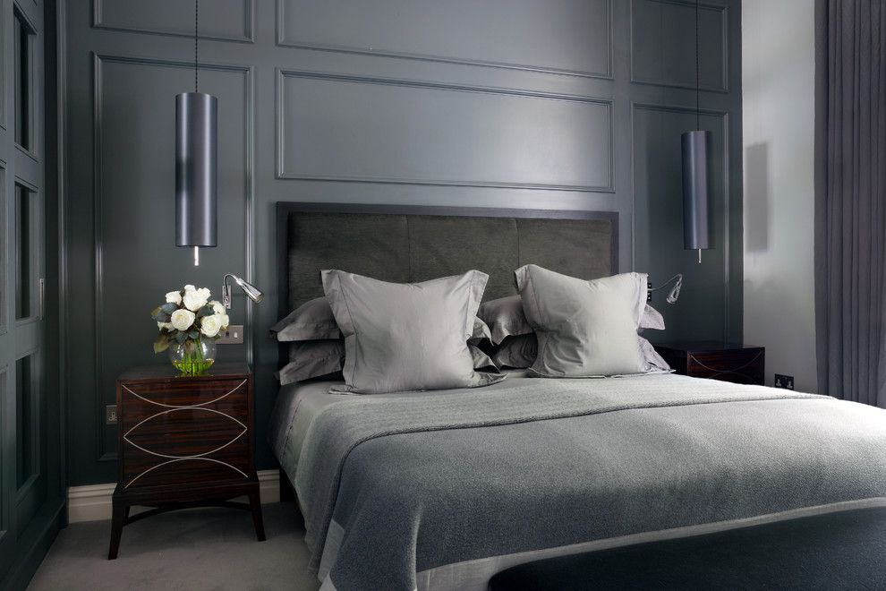 Ups Store Spokane for a Contemporary Bedroom with a Grey and Warwick Avenue by Alexandra Dixon Interiors