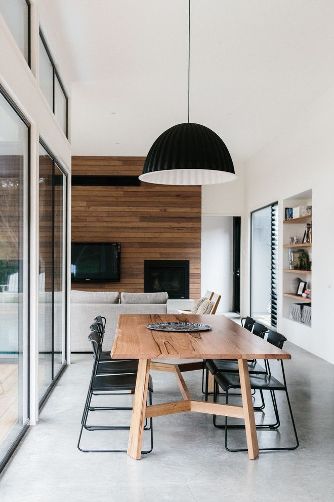 Urban Home Sherman Oaks for a Contemporary Dining Room with a Black Pendant Light and Cottesloe Residence by Altereco Design
