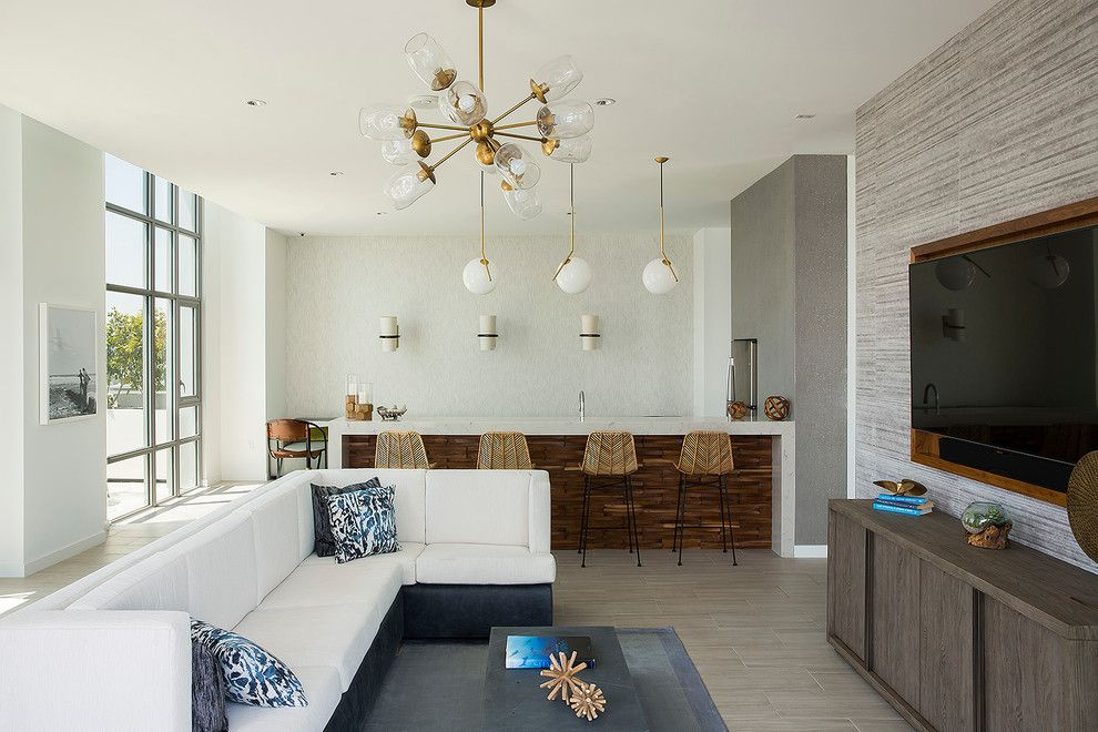 Urban Home Sherman Oaks for a Contemporary Living Room with a Beach House and the Current   Long Beach, Ca by Porcelanosa
