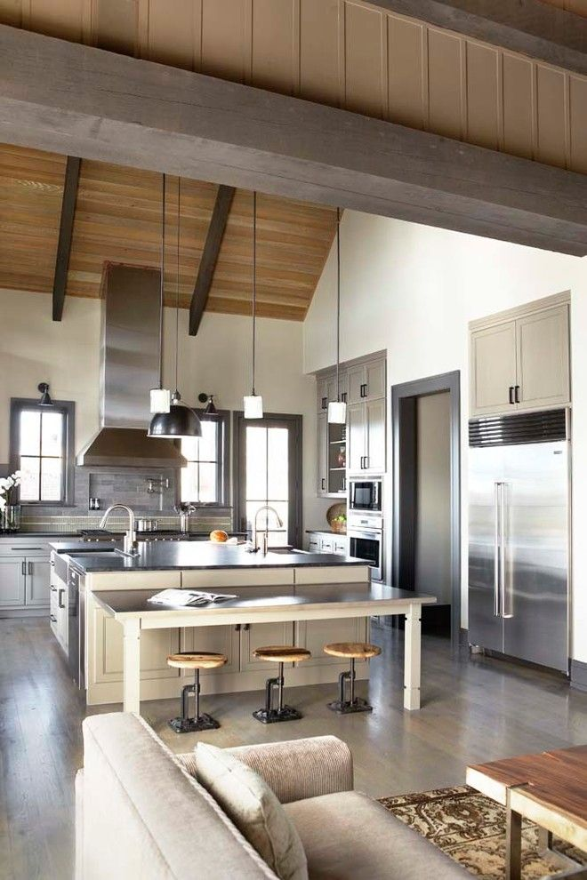 Urban Home Sherman Oaks for a Rustic Kitchen with a Cabinetry and the Cliffs at Mountain Park: Private Residence by Linda Mcdougald Design | Postcard From Paris Home