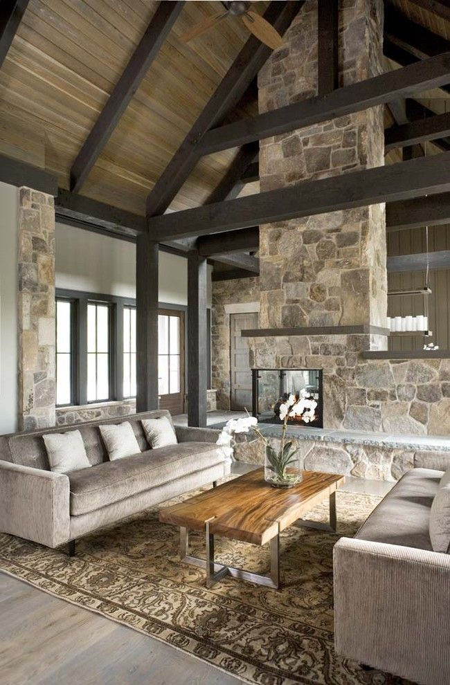 Urban Home Sherman Oaks for a Rustic Living Room with a Indoor Fireplace and the Cliffs at Mountain Park: Private Residence by Linda Mcdougald Design | Postcard From Paris Home
