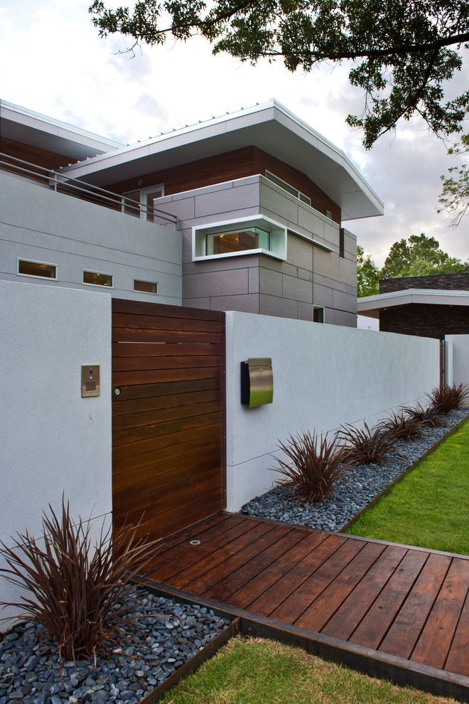 Usps Mailbox Height for a Contemporary Exterior with a White Wall and Contemporary Exterior by crforma.com
