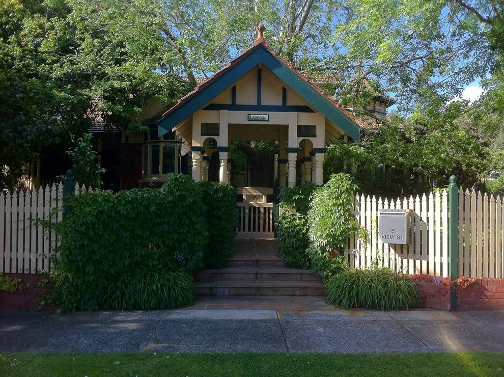 Usps Mailbox Height for a Victorian Entry with a Covered Entry and Andrew Renn, Beautiful Gardens of Melbourne Australia by Andrew Renn