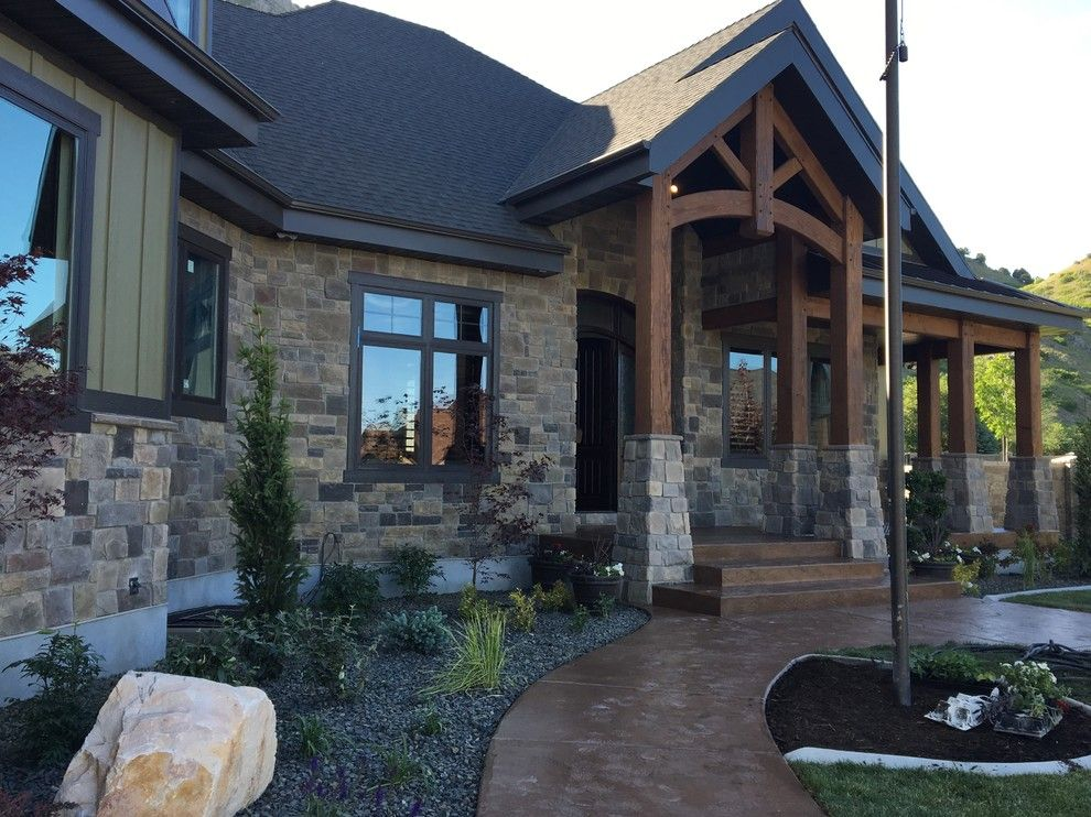 Utah Valley Parade of Homes for a Traditional Exterior with a Copper Ledgestone and Utah Valley Parade of Homes 2016   Raykon Ollerton by Hearth and Home Distributors of Utah, Llc. (Hhdu)