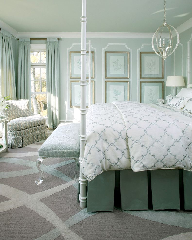 Valance Definition for a Traditional Bedroom with a Green and Build for the Cure by Tobi Fairley Interior Design