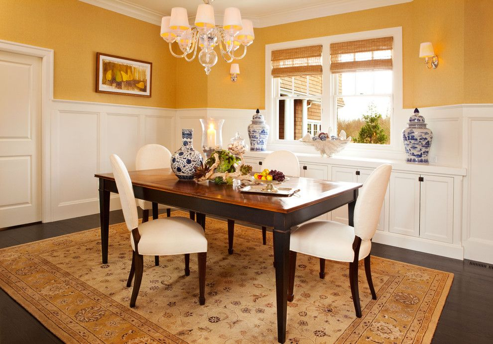 Valance Definition for a Traditional Dining Room with a Area Rug and Dining Room by Garrison Hullinger Interior Design Inc.