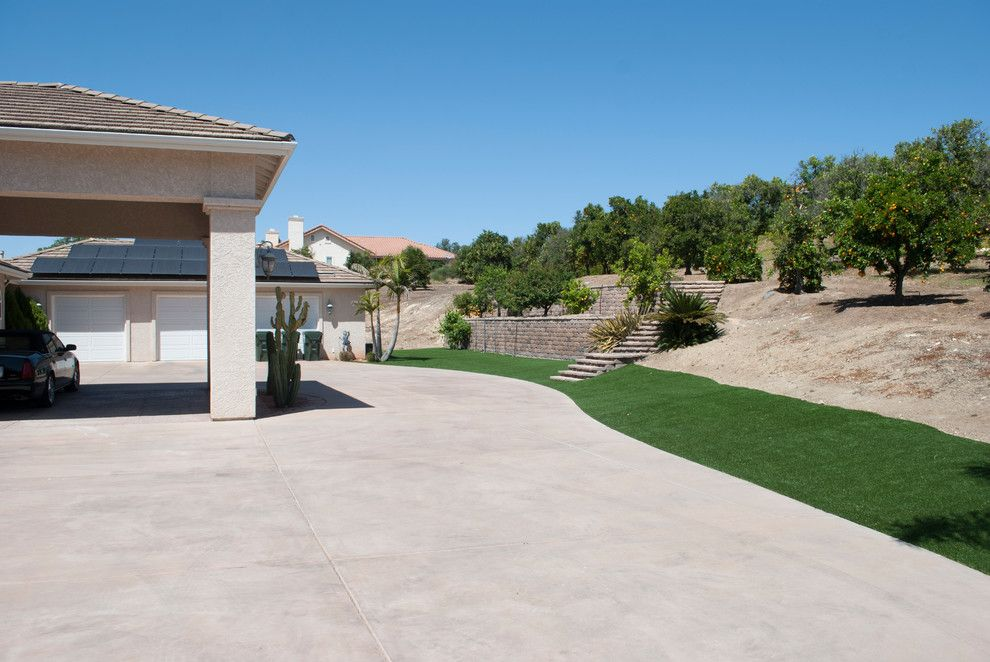 Valley Ag and Turf for a Contemporary Spaces with a Synthetic Grass and Valley Center, Ca   Artificial Grass Install by Home Turf Synthetic Grass
