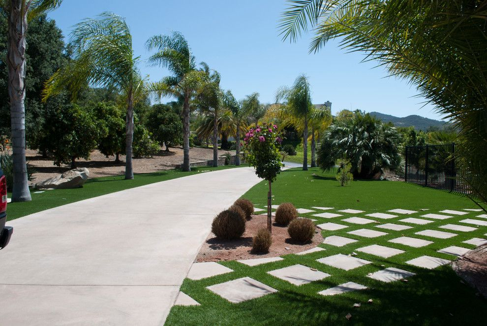 Valley Ag and Turf for a Contemporary Spaces with a Valley Center Artificial Turf and Valley Center, Ca   Artificial Grass Install by Home Turf Synthetic Grass