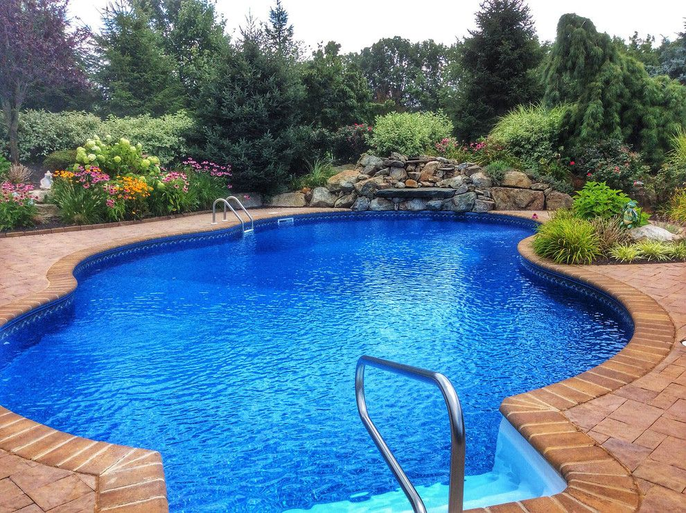 Valley Ag and Turf for a Traditional Pool with a Vinyl Lined Inground Pool and Long Valley Private Pool Oasis by Earth, Turf & Blooms