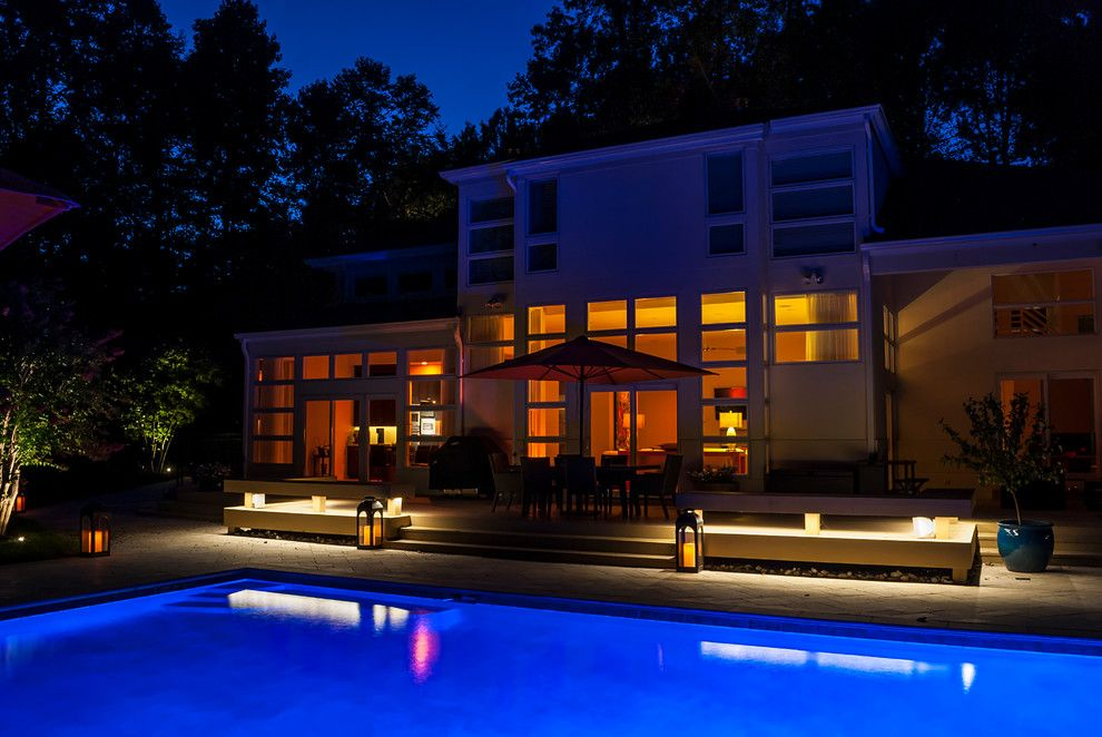 Valley Crest Landscape for a Contemporary Landscape with a Garden Lighting and Valleys Crest Project by Lighthouse Outdoor Lighting Baltimore