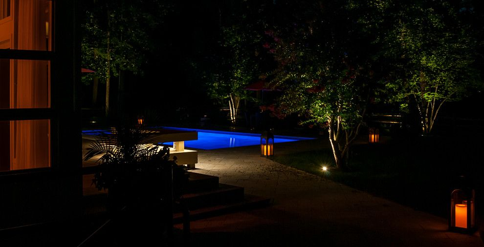 Valley Crest Landscape for a Contemporary Landscape with a Lighting and Valleys Crest Project by Lighthouse Outdoor Lighting Baltimore