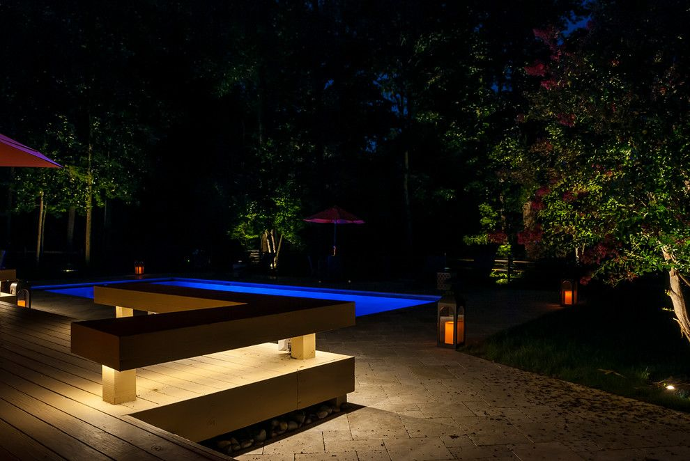 Valley Crest Landscape for a Contemporary Landscape with a Pool Lighting and Valleys Crest Project by Lighthouse Outdoor Lighting Baltimore