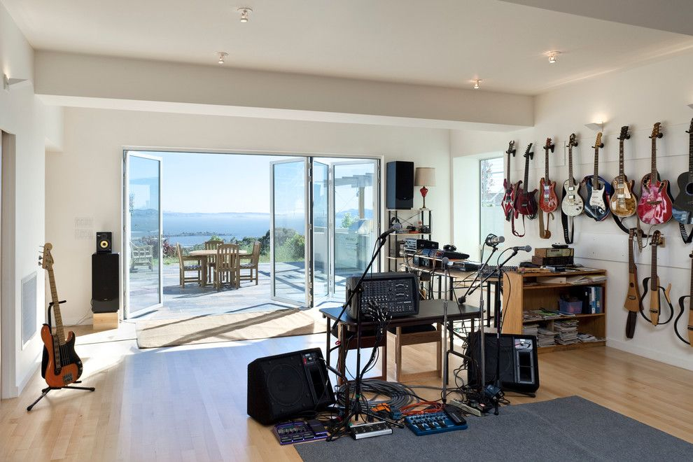 Valley View Theater for a Modern Home Theater with a Music Studio and El Cerrito Private Residence by Jace Architecture