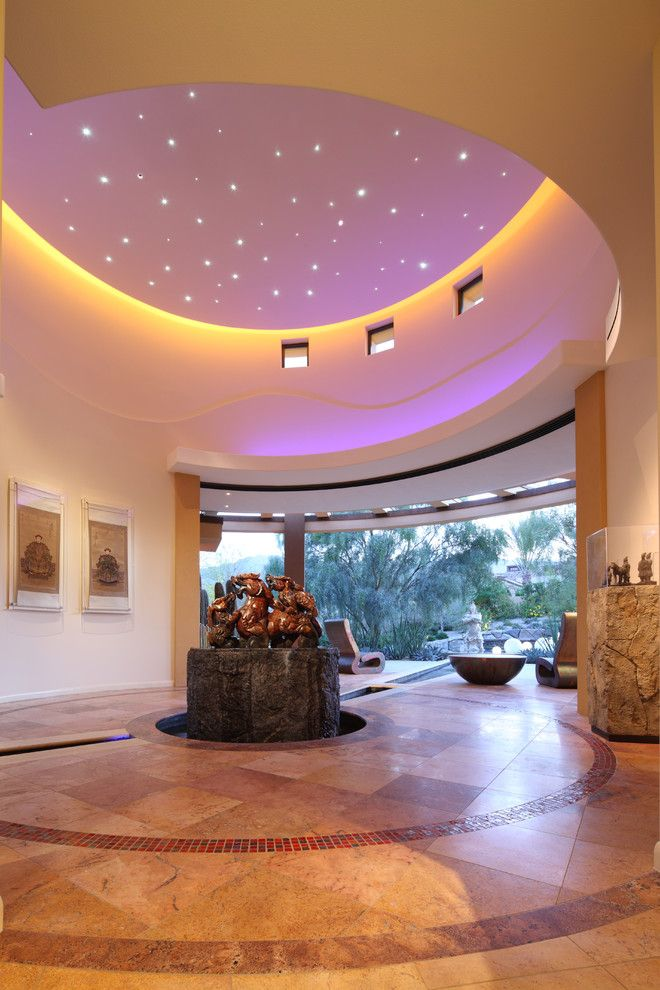 Valley View Theater for a Southwestern Hall with a Stone and Palm Desert Gallery by Deep River Partners