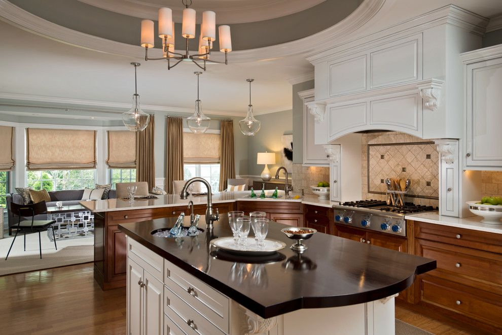Valley View Theater for a Transitional Kitchen with a Open Concept Family Room and Vanguardshow House 2016 by K. D. Ellis Interiors