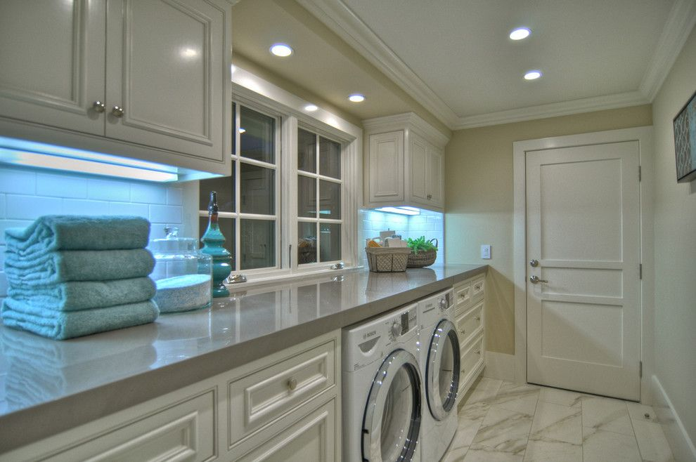 Valspar Color Chart for a Beach Style Laundry Room with a Foor Tile and 1512 Dolphin Terrace (Night Shots) by Spinnaker Development
