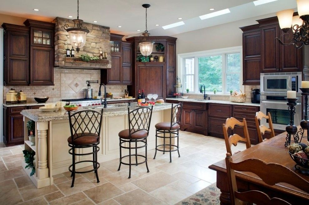 Valspar Color Chart for a Traditional Kitchen with a Ceiling Lighting and Space to Expand by Lang's Kitchen & Bath