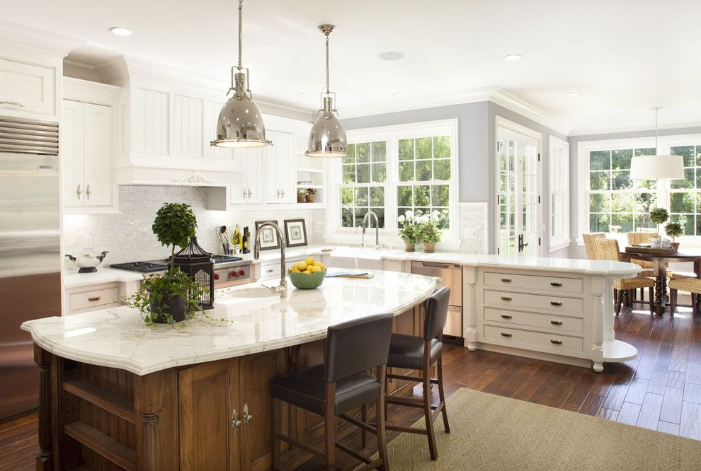 Valspar Colors for a Traditional Kitchen with a Hampton and Kitchen by Arch Studio, Inc.