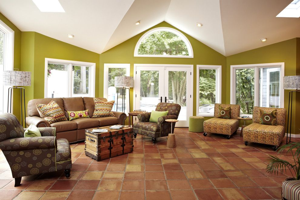 Valspar Colors for a Transitional Living Room with a Green Walls and Bethesda Photoshoot by Designing Solutions