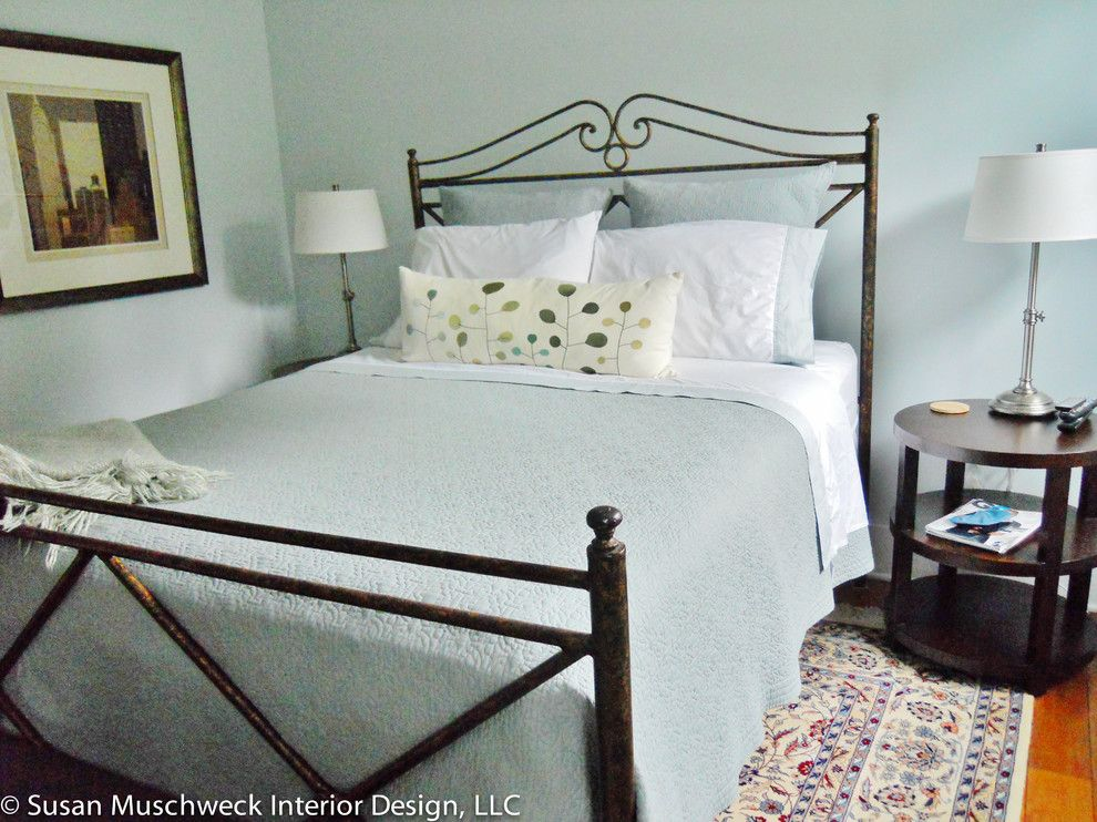 Value City Furniture Louisville for a Traditional Bedroom with a Benjamin Moore Glass Slipper and Squirrel Hill Home by Susan Muschweck Interior Design, Llc